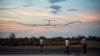 Airbus-dronen landet etter nesten 26 døgn i lufta