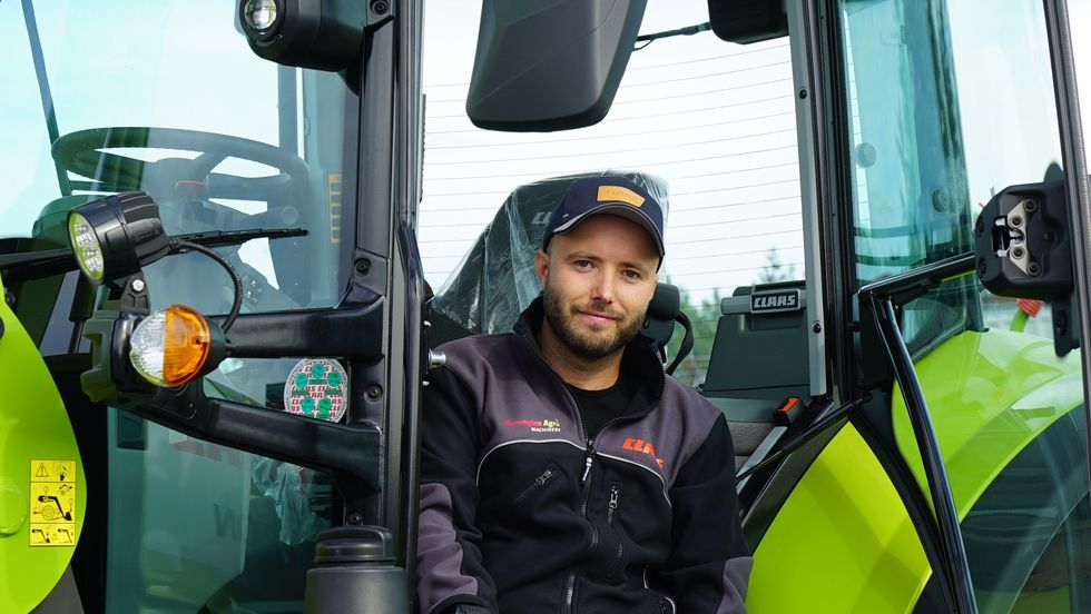 Heming Kornstad er nyansatt produktsjef for Claas traktor hos Norwegian Agro Machinery.