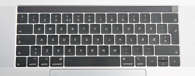 Tastaturet til Macbook Pro er bra, men vi savner den fysiske escape-tasten.