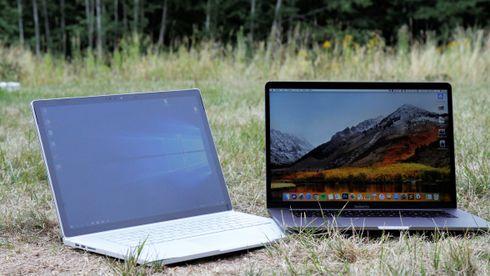 Duell: Macbook Pro mot Windows Surface Book 2