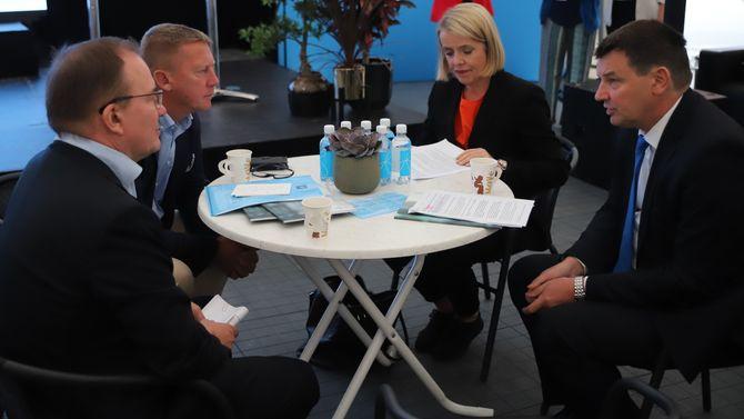 Marie Benedicte Bjørnland, Klas Friberg, Antti-Juha Pelttari og Tor Mikkel Wara