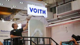 Sånn ser det ut på den internasjonale robotkongressen i Beijing