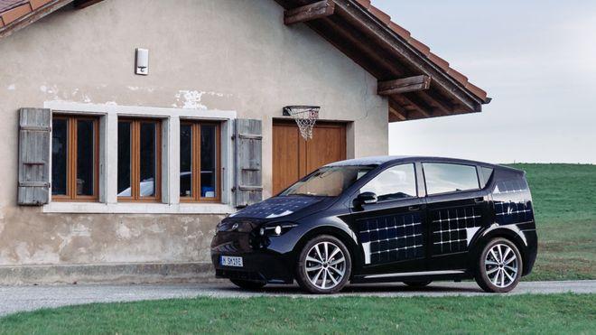 Solcelleelbil fra Sono Motors.