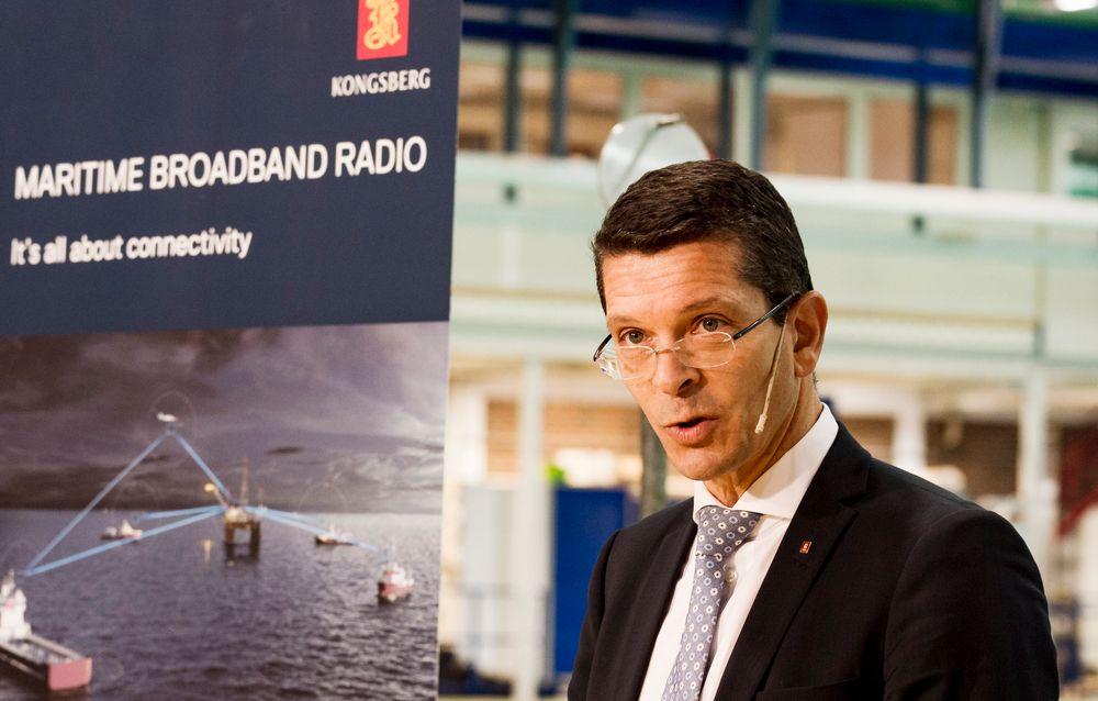Konsernsjef Geir Håøy i Kongsberg Gruppen sier selskapet står foran noen hektiske år.