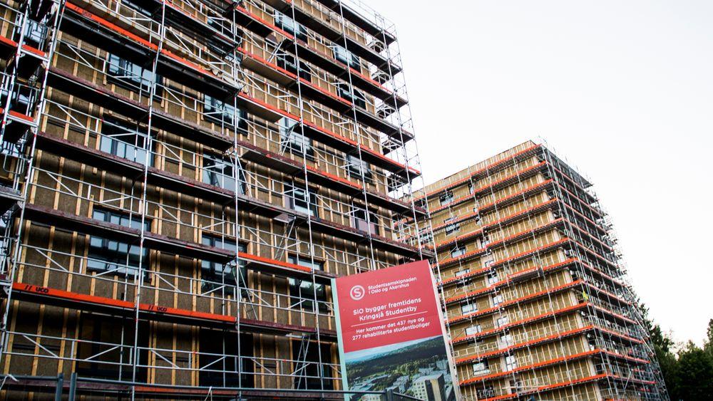 2200 nye studentboliger skal bygges i 14 norske byer. Avbildet er de nye studentboliger på Kringsjå i Oslo.