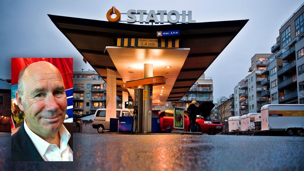 Professor Tor W. Andreassen (t.v.) mener Equinor burde beholdt bensinstasjonene. Bildet er fra daværende Statoil-stasjon i Schweigaardsgate, 2012. Tidligere Statoil solgte selskapet Statoil Fuel & Retail, som drev 2.300 bensinstasjoner. I 2012 aksepterte de et tilbud på 8,6 milliarder kroner fra det kanadiske selskapet Alimentation Couche-Tard.
