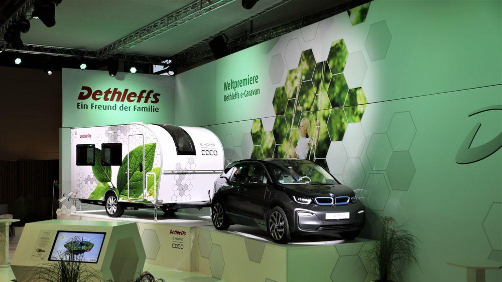 Denne campingvogna er laget for elbiler.