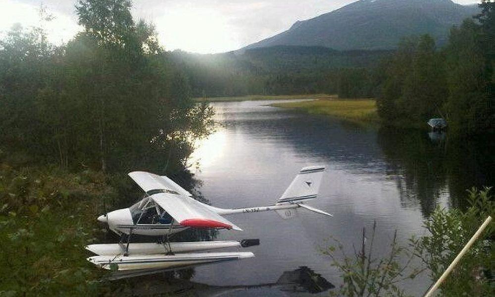To personer omkom da et mikrofly havarerte i Meløy kommune i Nordland. Flyet ble funnet av et F-16 jagerfly etter en større leteaksjon natt til onsdag. Bildet er tatt ved en tidligere anledning.
