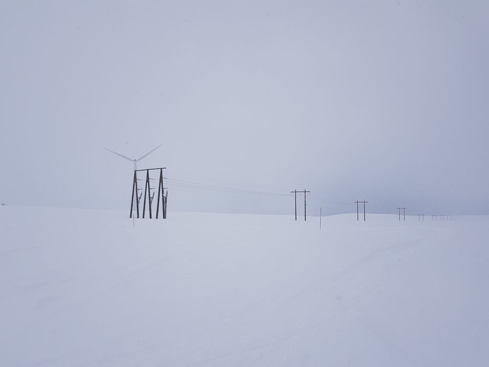 Innestengt vindkraft. Nettet fra vindparken på Raggo1 til Berlevåg er i svakeste laget og må forsterkes for Haeolus-prosjektet.
