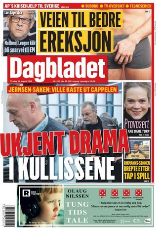 Dagbladets papirutgave 28. august 2018.