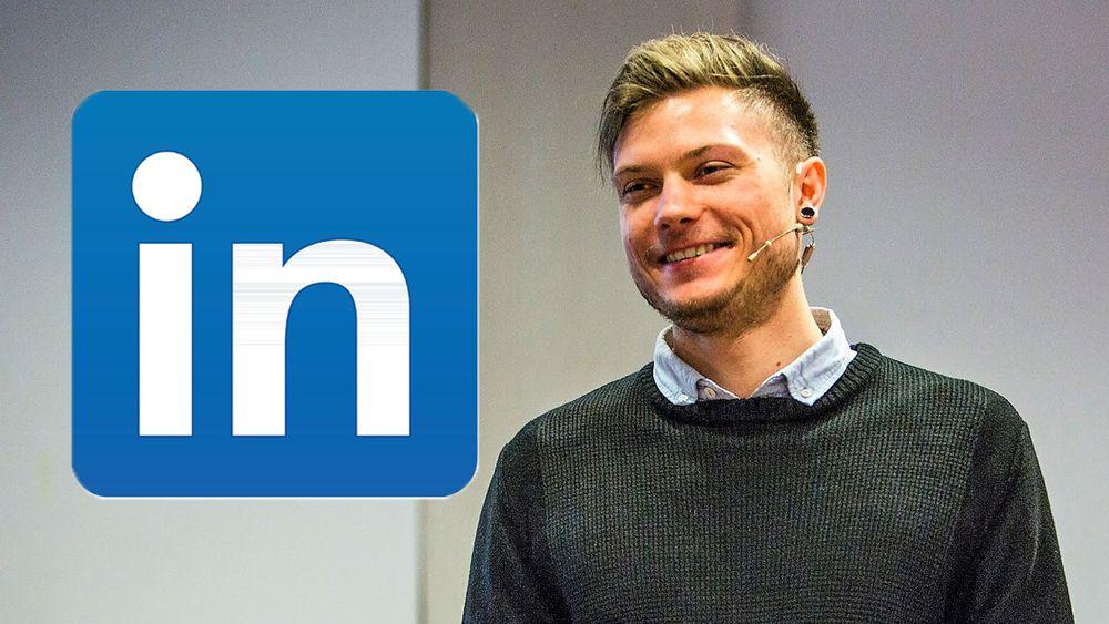 På LinkedIn gjelder andre regler enn på Facebook. Du trenger ikke å ha møtt personen i virkeligheten for å spørre om dere kan knytte kontakt., mener Christoffer Bertilsson.