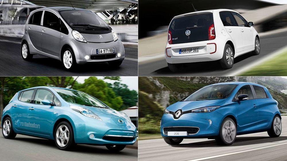 Renault, Volkswagen, Nissan og Peugeot er alle tungt inne i elbilmarkedet. Totalt ligger det an til at du i 2021 kan velge mellom over 90 ulike, rene elbilmodeller.