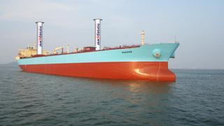 Maersk har klargjort verdens første tankskip med rotorseil