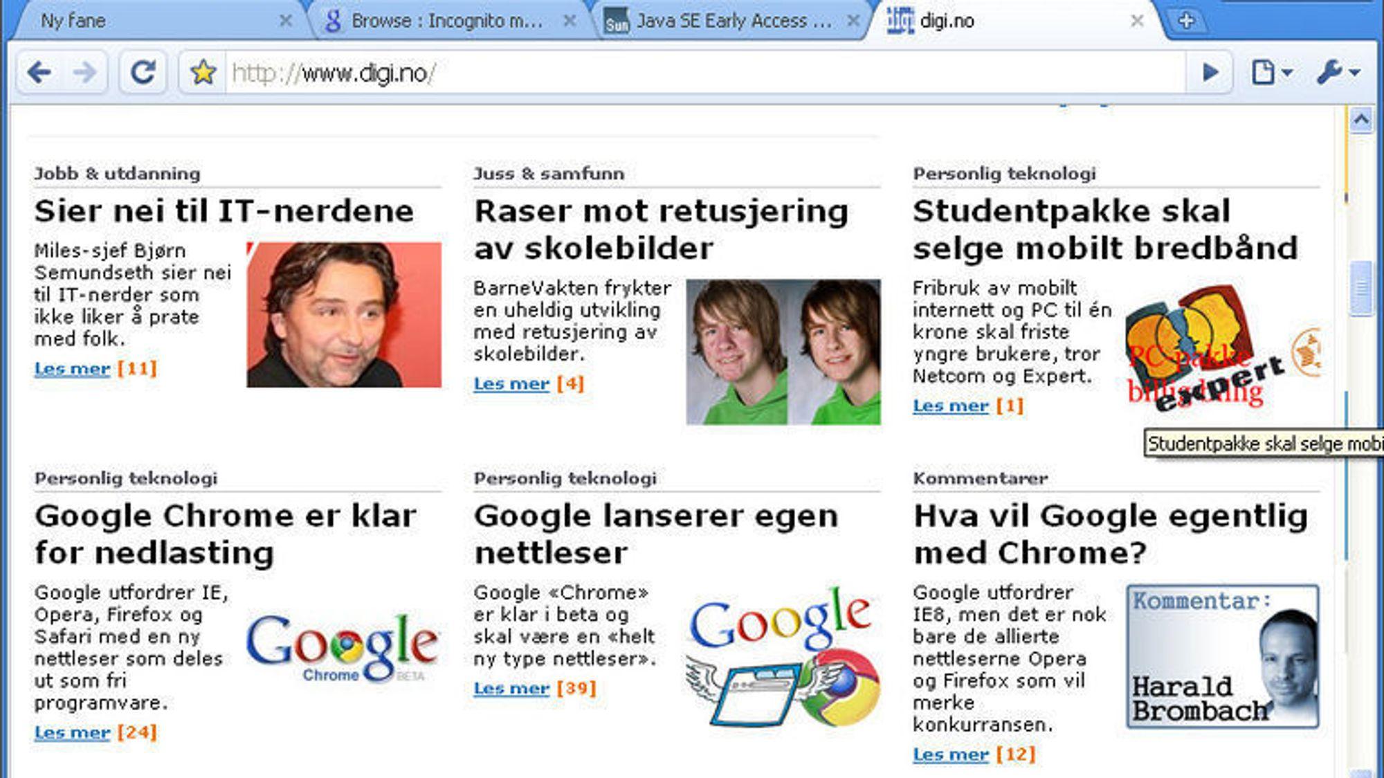 774c64174 Med Chrome skulle Google først og fremst vise hva weben var god for ...
