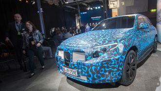 Den kamuflerte bilen ble vist frem før lanseringen.