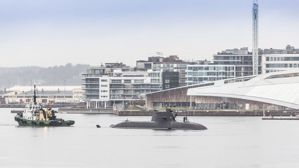 Tysk 212A-ubåt på besøk i Oslo.