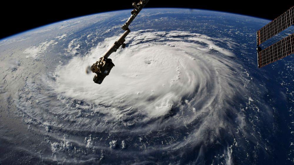 Orkanen Florence fotografert fra den internasjonale romstasjonen ISS.