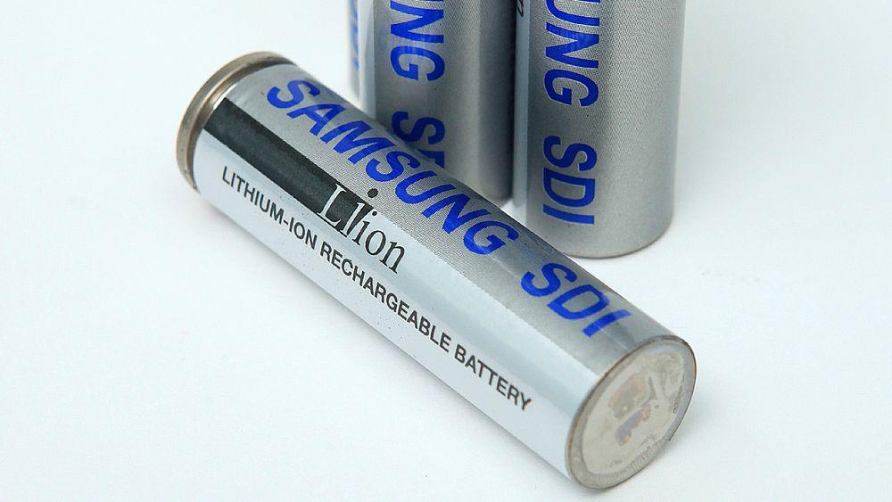 Samsung SDI litiumion-celler. Bildet er en illustrasjon.