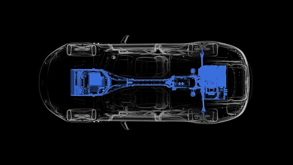 Drivlinjen til Aston Martin Rapide E.