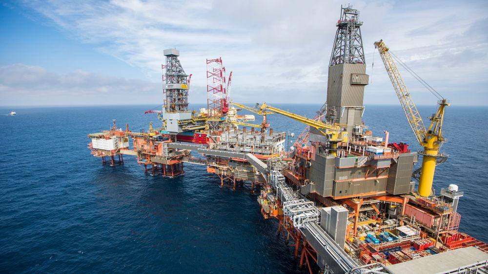 Valhall-feltet, Nordsjøen. Anlegget har produsert en milliarder fat olje siden oppstarten i 1982.