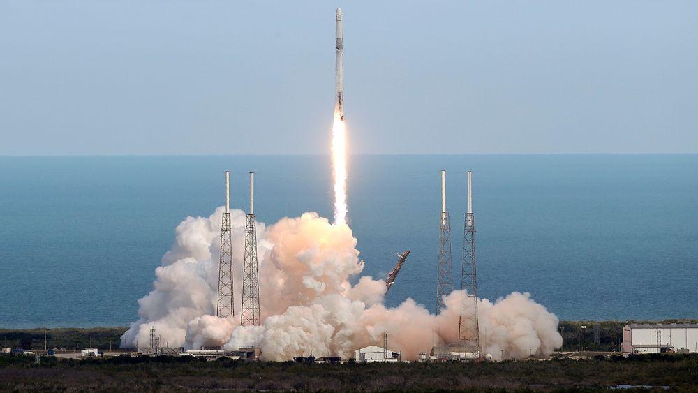 SpaceX-oppskyting tidligere i år.