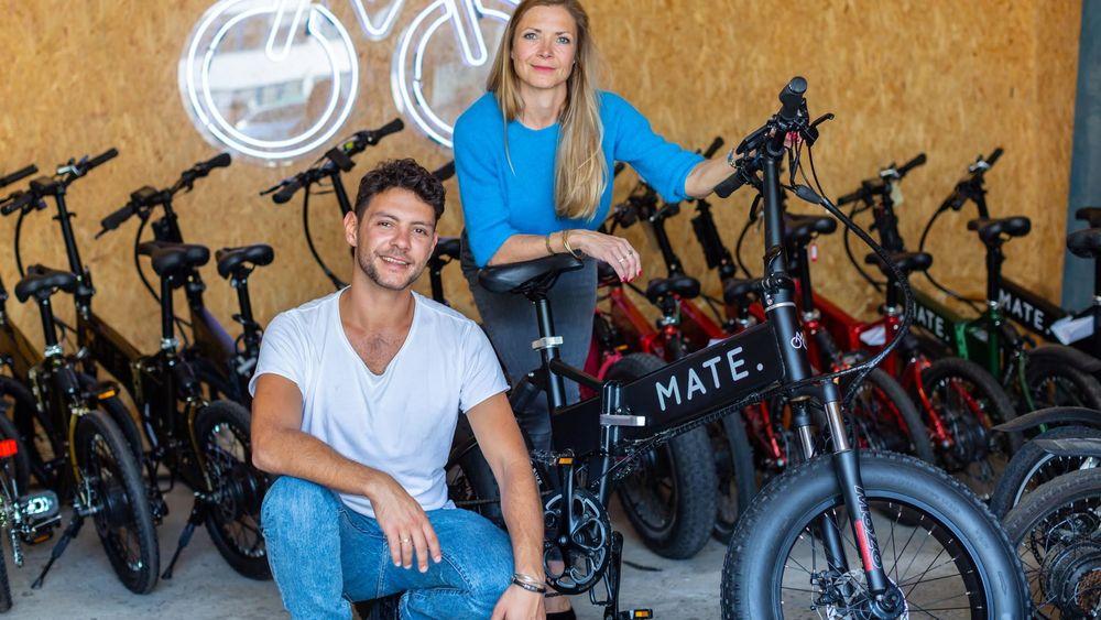 Søskenparet Christian Adel Michael og  Julie Kronstrøm står bak elsykkelen Mate X.