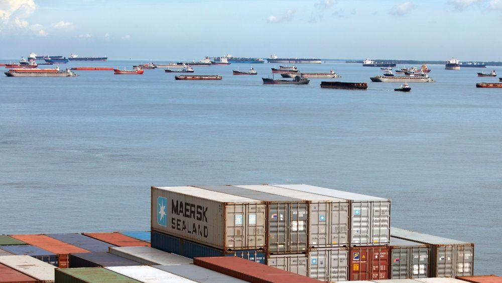 Skipstrafikk i Singaporestredet, som skiller Vest-Malaysia og Singapore fra de indonesiske Riauøyene.