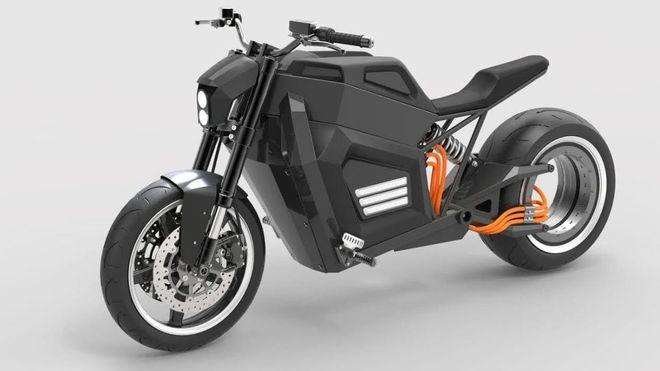 Den unike motorsykkelen har elmotor i «felgen»