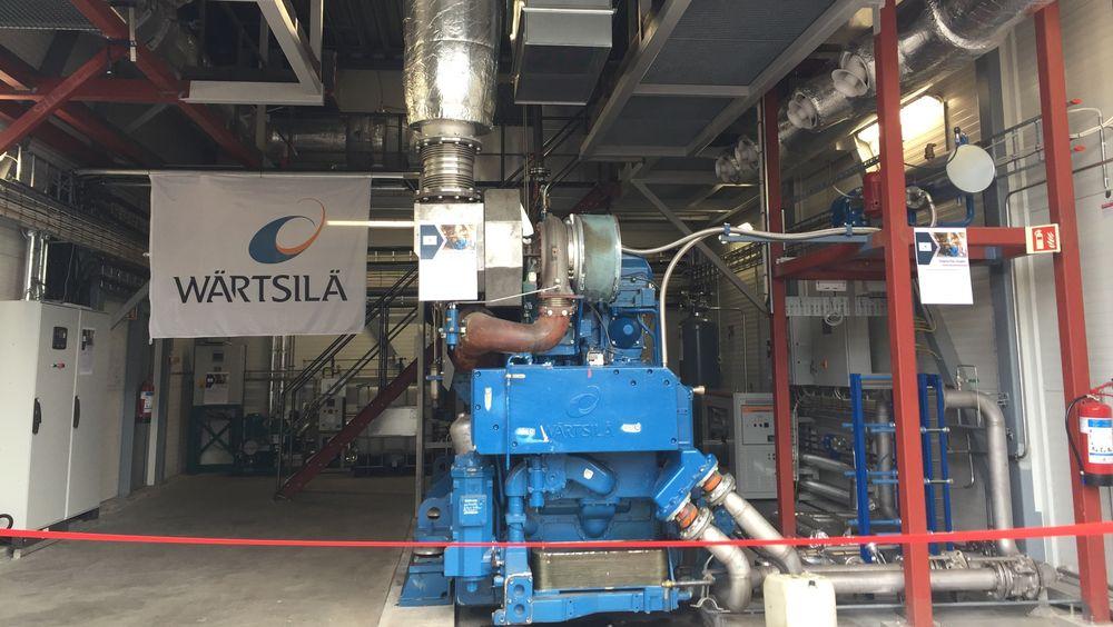Wärtsilas testlab i Moss før åpning. De har installert større motor med en effekt på 1,2 MW.