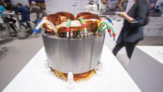 En stator fra Audis egenutviklede elmotor.
