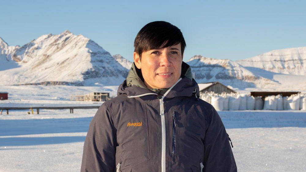 Utenriksminister Ine Eriksen Søreide deltok tirsdag på Ny-Ålesund Symposium, som arrangeres i samarbeid med forskningsinstituttet CICERO. Konferansen handler om klimaendringer og håndtering av risiko.