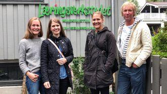 Også Maskinisten Friluftsbarnehage og pedagogisk leder Kristine Johnsen Rishaug fikk besøk av representantene fra PBL og Naturvernforbundet.