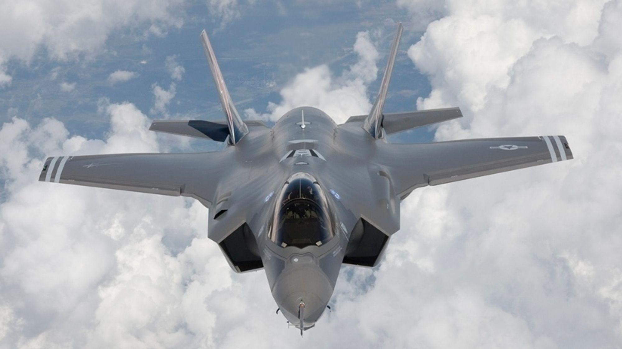 Kampfly av typen F-35, som AIM Norway har fått større vedlikeholdsjobb på.