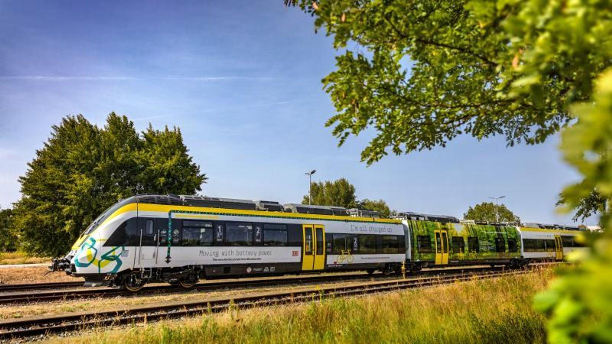 Batteritoget fra Bombardier skal settes i prøvedrift neste år i Bodensjø-området i Sør-Tyskland.