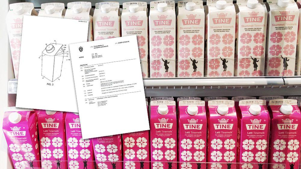 Elopak hevdet at konkurrenten Tetra Pak har etterliknet denne melkekartongen, som brukes av Tine blant annet på Østlandet.