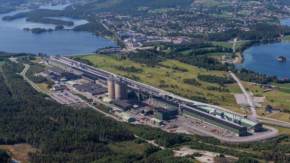 Hydro Hsunes i Hordaland ligger ved utløpet av Hardangerfjorden. (Hydro).