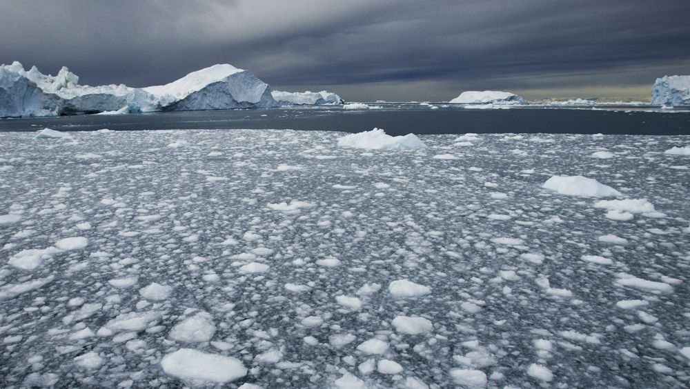 Faktisk.no har faktasjekket påstand om isen på Nordpolen. Illustrasjonsbilde fra Illulisatt, Grønland, 2005.
