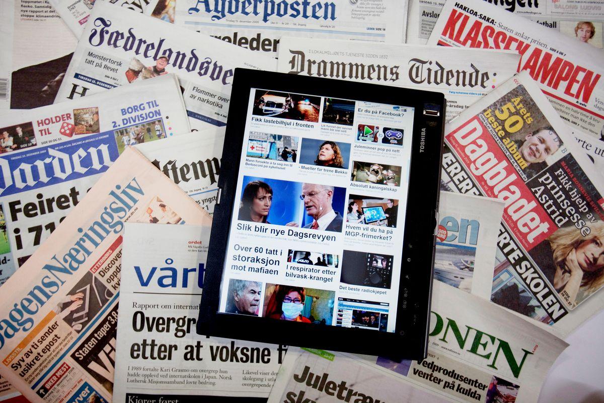Avisene melder om koronaoppgang i abonnenter