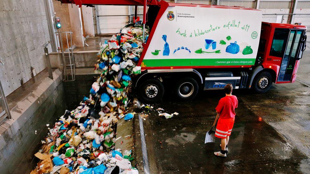 Det er en økning i mengden avfall til biologisk behandling. Illustrasjonsfoto: Erlend Aas / NTB scanpix