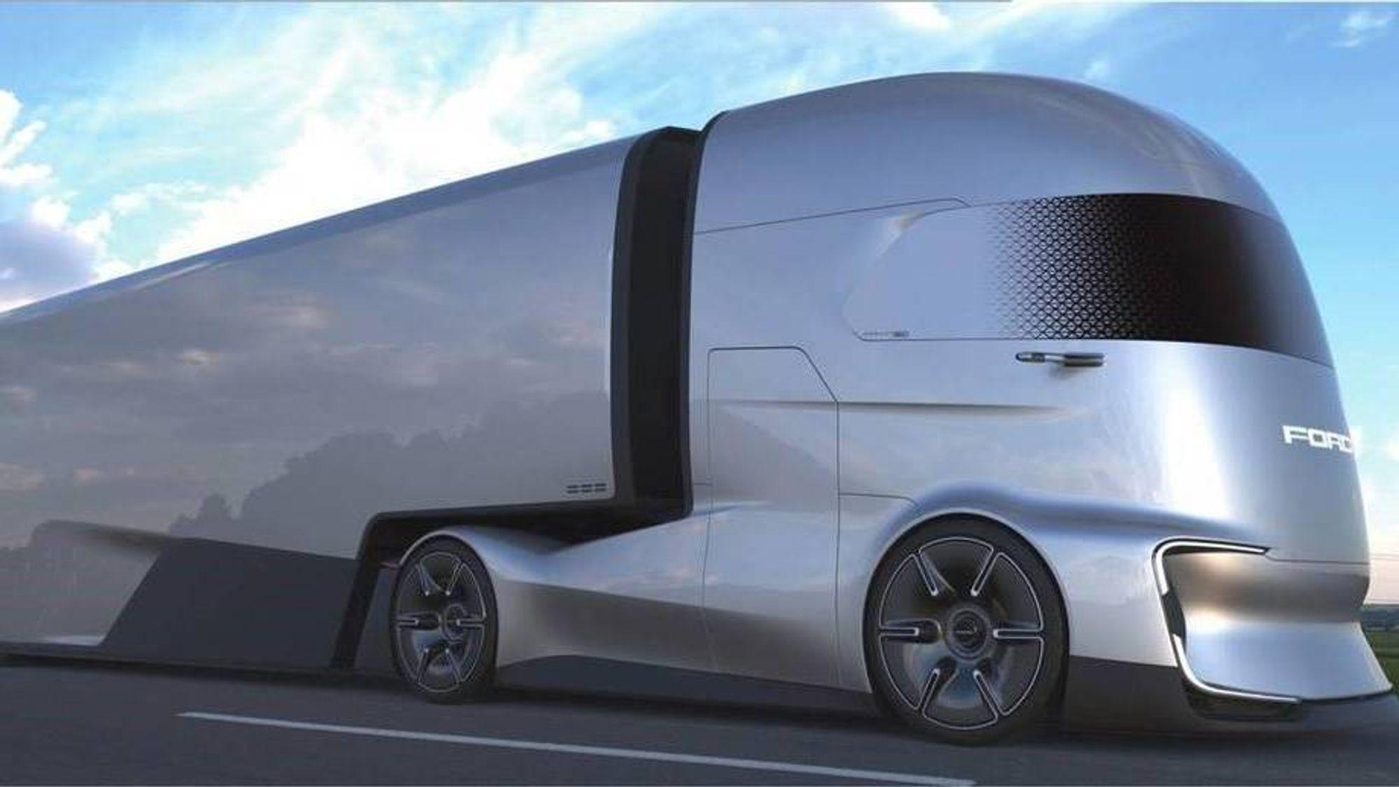 Fords nye selvkjørende el-lastebilkonsept.