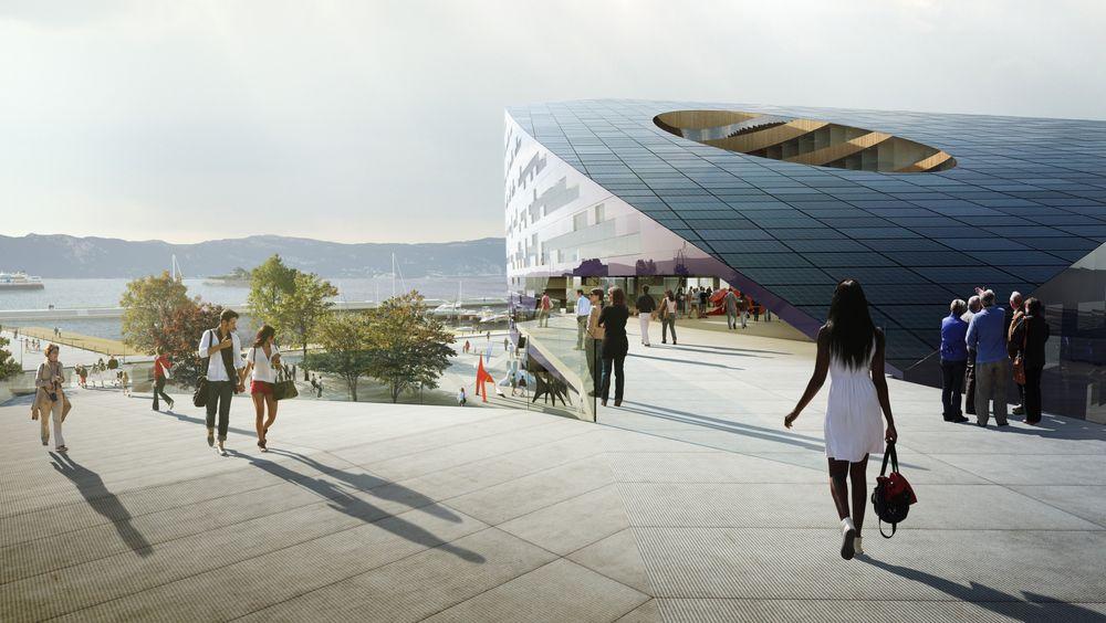 Entras nybygg på Brattørkaia i Trondheim vil produsere mer energi enn bygget bruker. Tanken er å bruke kryptoteknologi for å fordele og ta betalt for energien.