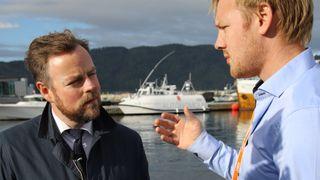 Næringsminister Torbjørn Røe Isaksen i Trondheim september 2018. Besøk til Maritime Robotics og NTNU