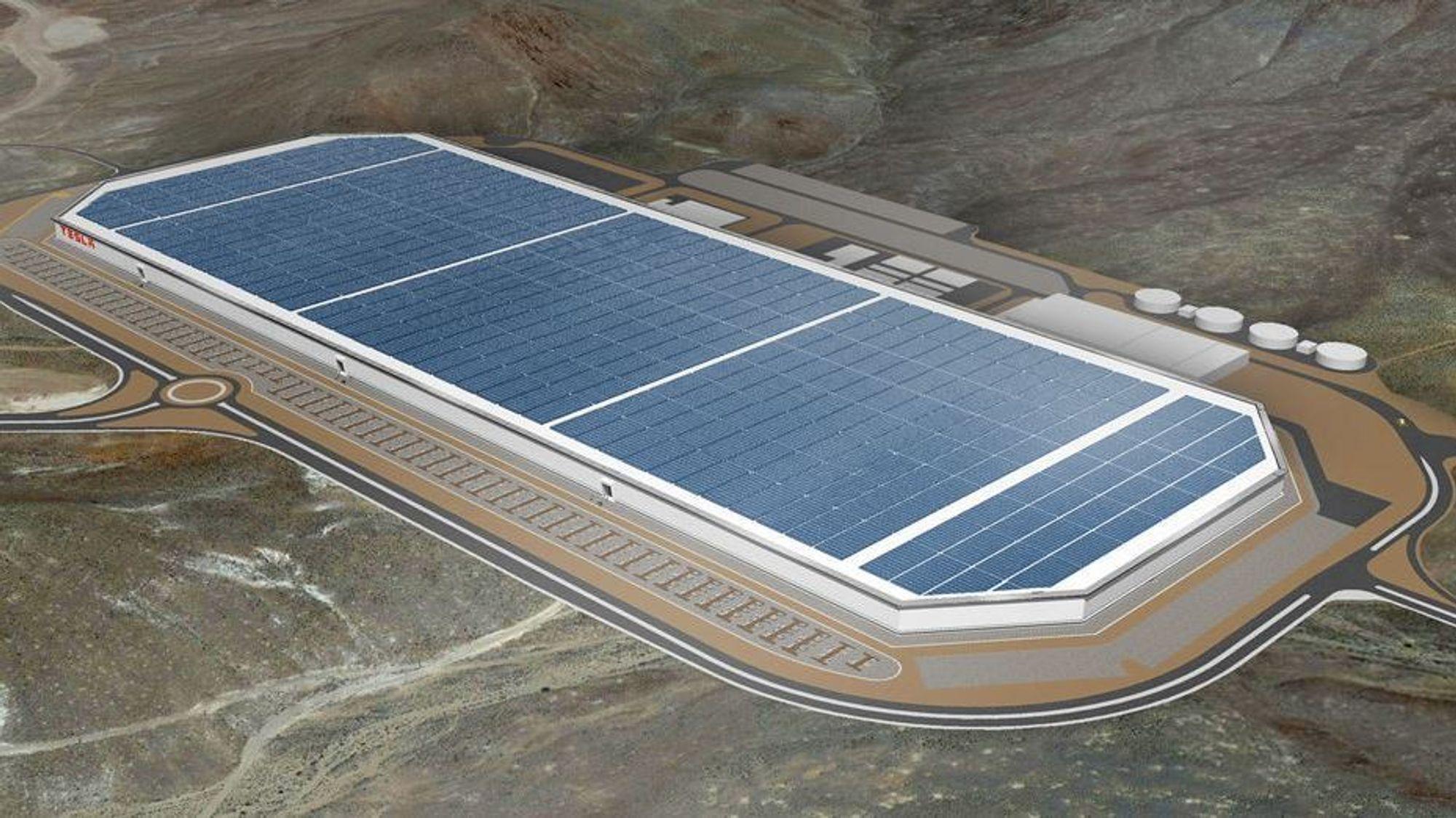 Tesla GIgafactory (skisse).