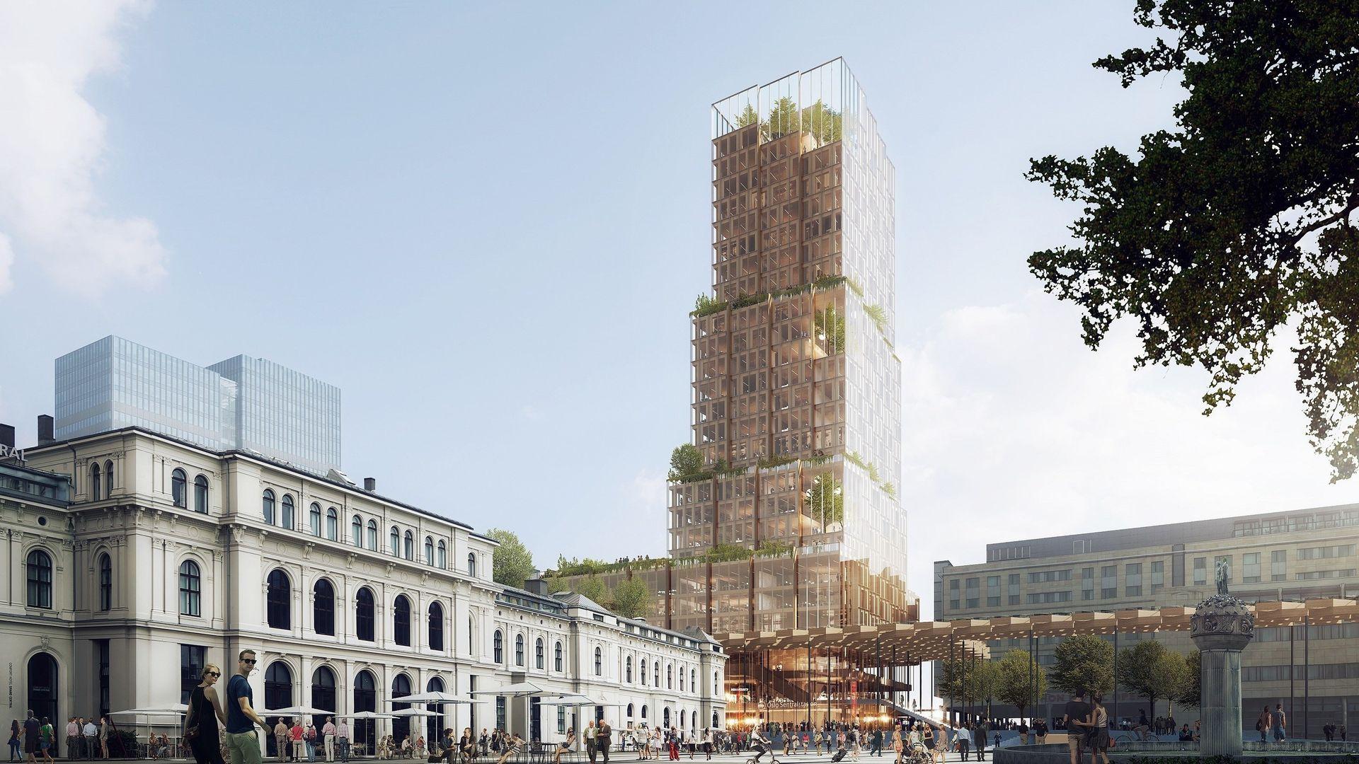 Utviklingsprosjektet «Nordisk lys» er et nytt høyhus på toppen av Oslo S.