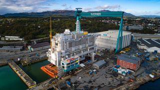 Nå er plattformen til 6,7 mrd. kroner ferdig bygget: Blir et av Norges største hoteller