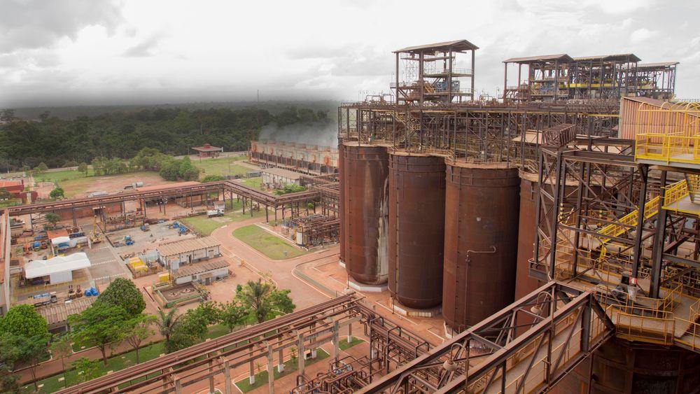 Hydros Alunorte-anlegg i Brasil.