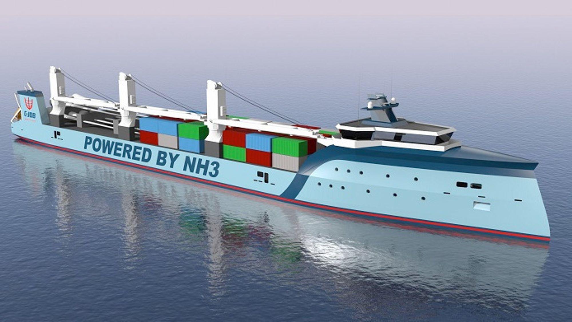 C-Job Naval Architects jobber både med å undersøke potensialet til amoniakk som skipsdrivstoff, og å utvikle et skip som skal frakte ammoniakk som drivstoff.