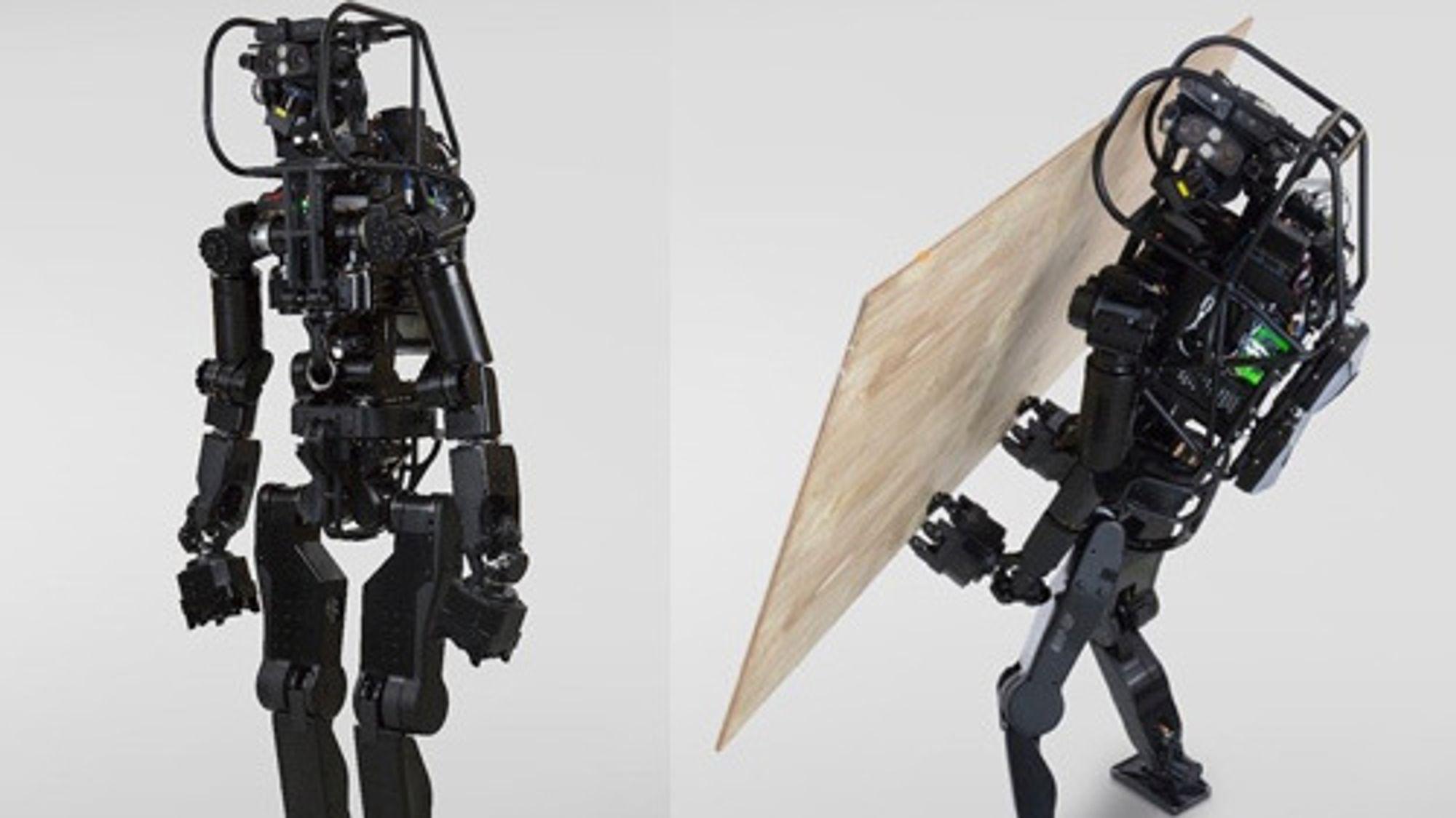 Denne roboten kan sette opp gipsvegger helt på egen hånd