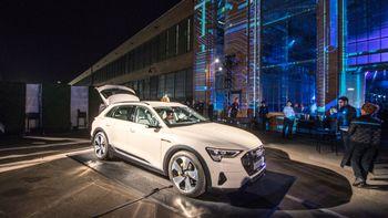 Audi E-tron vist frem i San Francisco.