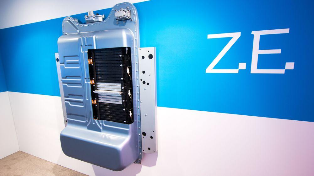 Elbilbatteri fra Renault. Cellene i batteriet er levert av koreanske LG Chem.